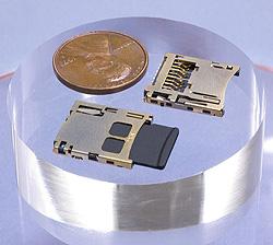 Molex разъемы карт памяти типа microSD