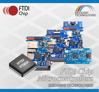 FTDI Chip предлагает серию отладочных модулей для 32-разрядных микроконтроллеров FT90X Super-Bridge