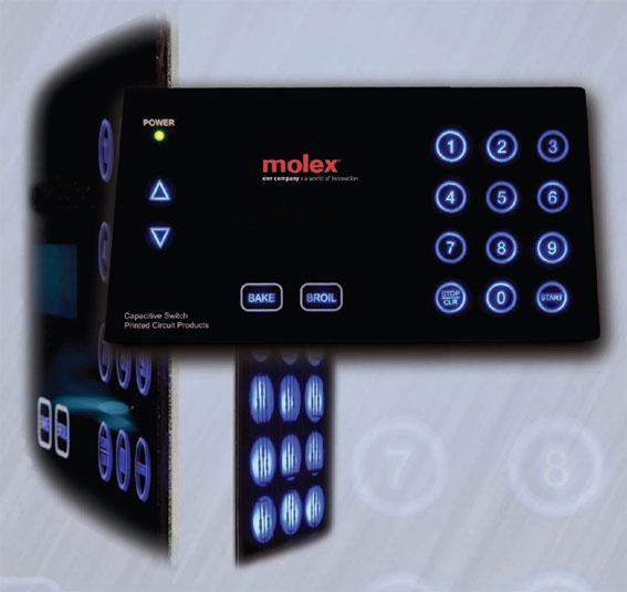 Molex начинает выпуск сенсорных панелей, выполненных по технологии емкостного считывания