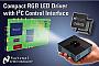 Драйвер фирмы National Semiconductor управляет током RGB светодиодов, используя один дроссель