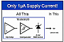 ОУ, компаратор и ИОН в микросхемах Touchstone Semiconductor потребляют 1.5 мкА при напряжении питания 0.8 В