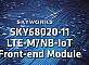 Skyworks выпустила универсальный модуль входного интерфейса LTE для приложений IoT