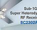 Holtek объявляет о выпуске новых микросхем супергетеродинных приемников для субгигагерцового диапазона ISM