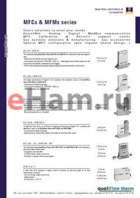 AFM302D datasheet - MFCs & MFMs series