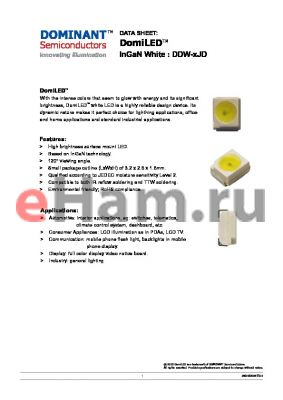 DDW-UJD-U1 datasheet - LED InGaN White