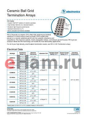 CHC-CD1065B-01-75R0G datasheet - Ceramic Ball Grid Termination Arrays
