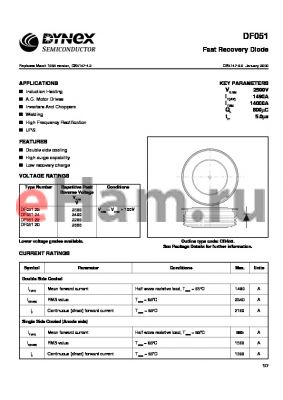 DF05124 datasheet - Fast Recovery Diode