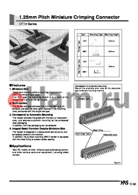 DF13A-6P-1.25C datasheet - 1.25mm Pitch Miniature Crimping Connector