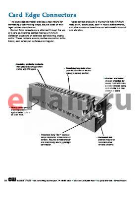 CA-20-9405 datasheet - Card Edge Connectors