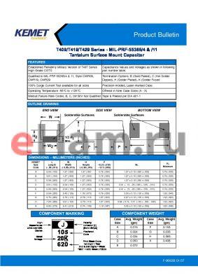 CWR09FK105MCA datasheet - Tantalum Surface Mount Capacitor