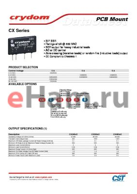 CX240DX datasheet - Ratings of 5A @ 660 VAC