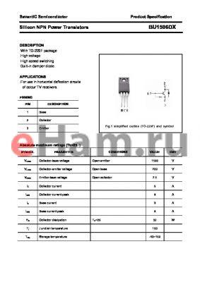 BU1506DX datasheet - Silicon NPN Power Transistors