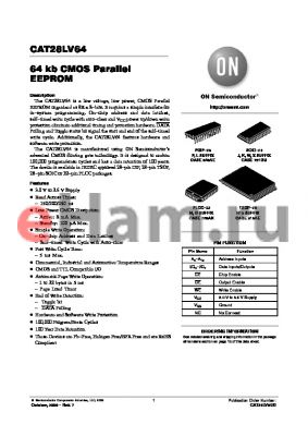 CAT28LV64H13I-20T datasheet - 64 kb CMOS Parallel EEPROM