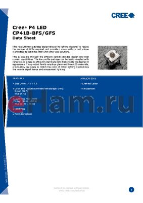 CCCCC-DXW-XHHKKMNT datasheet - Cree^ P4 LED