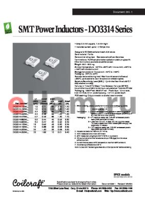DO3314-682ML datasheet - SMT Power Inductors
