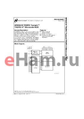 DP802518V datasheet - DP802518 TROPIC TSUNAMI-TM TROPIC II-TM