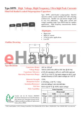DPPS20D1K-F datasheet - High Voltage, High Frequency, Ultra High Peak Currents