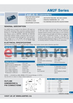 AM2F-0512SH52 datasheet - 2 watt dc-dc converters