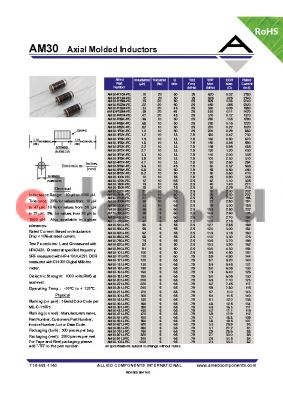 AM30-201J-RC datasheet - Axial Molded Inductors