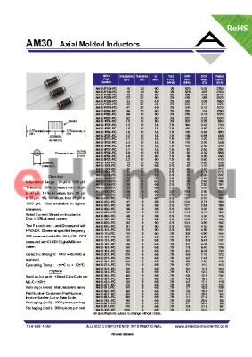 AM30-240K-RC datasheet - Axial Molded Inductors