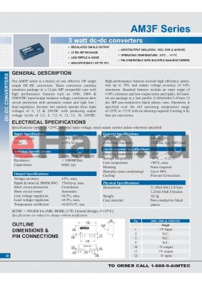 AM3F-0512SH52 datasheet - 3 watt dc-dc converters