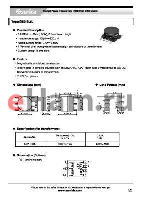 CMD6LNLNP-120MC datasheet - General Power Transformer