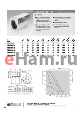 D2E133-DM47-01 datasheet - CENTRIFUGAL BLOWER