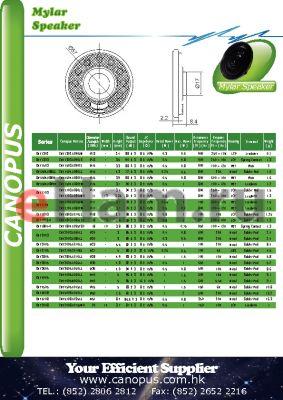 CMY4005 datasheet - Mylar Speaker
