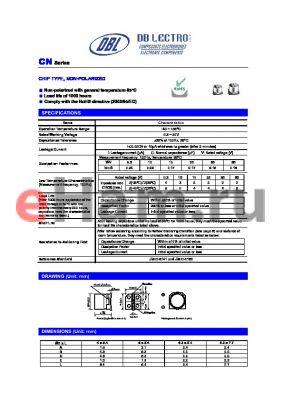 CN1E100KC datasheet - CHIP TYPE, NON-POLARIZED