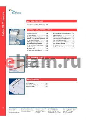 EP-508318-2.5-9 datasheet - Label format - Old format order code cross reference