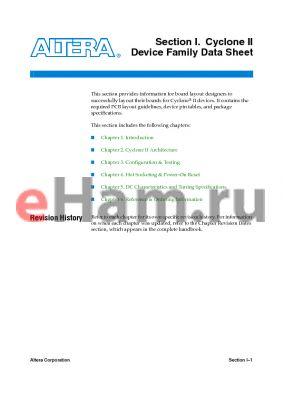 EP2C8A8F324I6N datasheet - Cyclone II Device Family