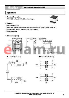C13100 datasheet - ADSL Transformer