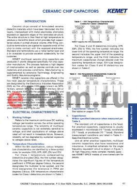 C1632C22211RAC datasheet - CERAMIC CHIP CAPACITORS