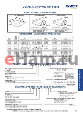 CDR31BX109ACSM datasheet - CERAMIC CHIP/MIL-PRF-55681