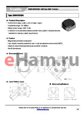 CDRH12D78/ANP-560M datasheet - POWER INDUCTORS