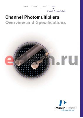 C1911 datasheet - Channel Photomultipliers