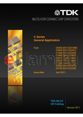 C2012C0G1A0R5BTXXXX datasheet - General Application