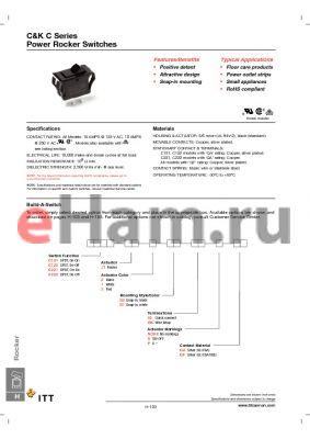 C221J13S205PQA datasheet - Power Rocker Switches