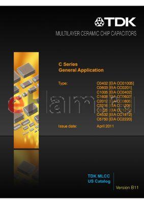 C3216X7S1H105WTXXXX datasheet - General Application