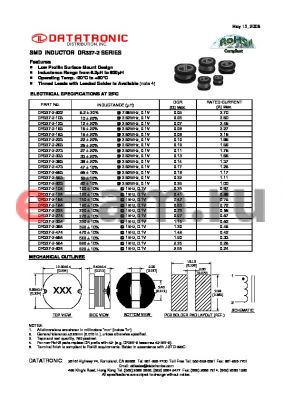 DR337-2-154 datasheet - SMD INDUCTOR