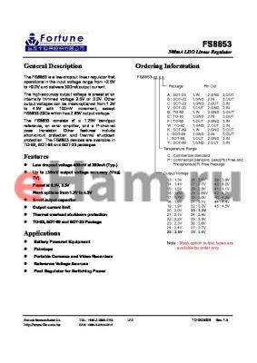 FS8853-32PC datasheet - 300mA LDO Linear Regulator