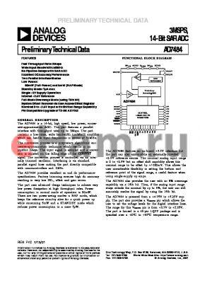 EVAL-CONTROLBRD2 datasheet - 3MSPS, 14-Bit SAR ADC