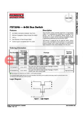 FST3245WMX datasheet - 8-Bit Bus Switch
