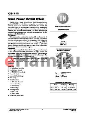 CS1112 datasheet - Quad Power Output Driver