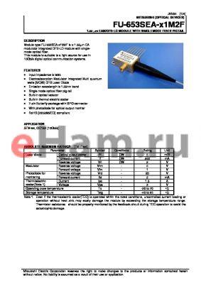 FU-653SEA-W1M2F datasheet - 1.55 lm EAM/DFB-LD MODULE WITH SINGLEMODE FIBER PIGTAIL