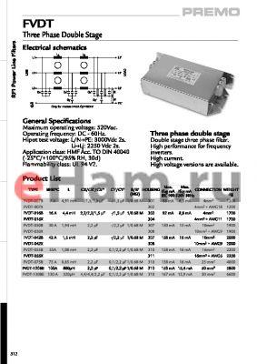 FVDT-007B datasheet - Three Phase Double Stage