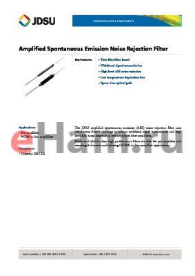 FWS-200011006 datasheet - Amplified Spontaneous Emission Noise Rejection Filter