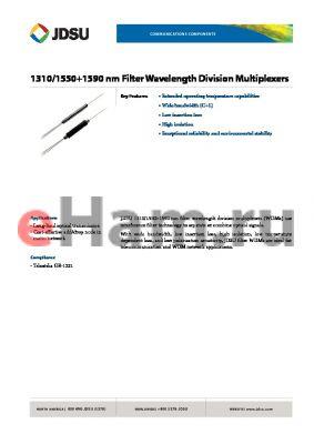 FWS-3P5R3P106 datasheet - 1310/15501590 nm Filter Wavelength Division Multiplexers