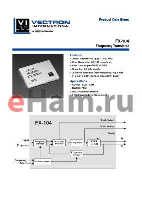 FX-104-CFF-A1F8 datasheet - Frequency Translator