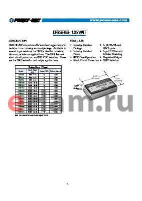 DRS4815 datasheet - 1.25 WATT